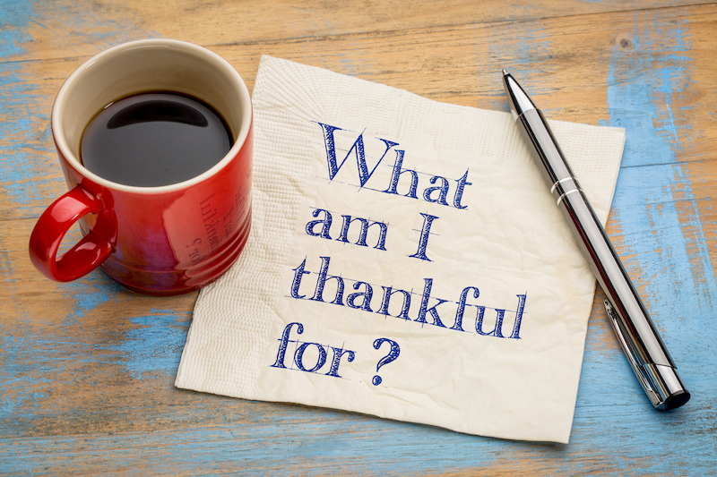 Being Thankful: Thanksgiving Acknowledgements